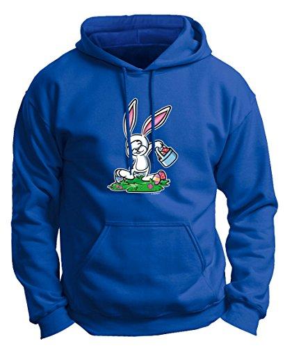 Easter Bunny Costume Easter Christian Easter Chocolate Bunny Dabbing Easter Bunny Funny Easter Gifts Premium Hoodie Sweatshirt 3XL Royal]()