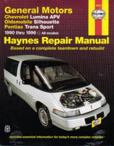 NOS-H38035 Haynes GM Chevrolet Lumina APV Oldsmobile Silhouette Pontiac Trans Sport 1990-1995 Auto Repair Manual
