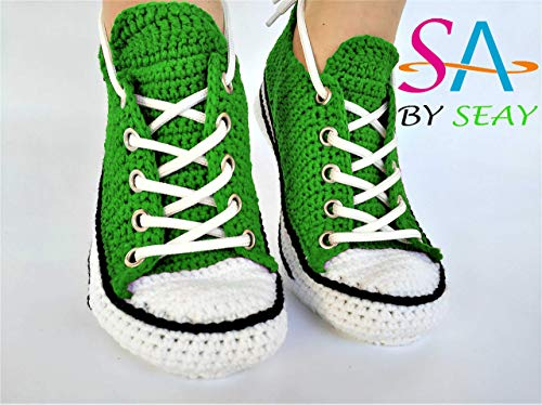 Handcrafted Creative Knitting Style Crochet Slippers For Men And Women Indoor Slip on Shoes, Comfortable And Relaxing House Footwear