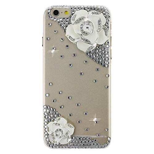 EVTECH(TM) Neue Apple Iphone 6 (4.7 Zoll) Bling Glitter Diamant Schutzhülle/Transparent Hart Kunststoffe Hülle/strass Etui Schale/Plastik Handytasche/Schale case cover