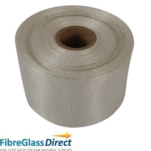(9905015 FibreGlassDirect - 100mm Glass fibre tape - 50m by FibreGlassDirect)