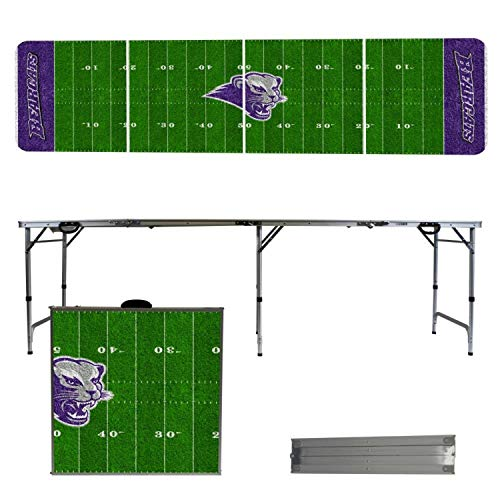 - Victory Tailgate NCAA Southwest Baptist University 8'x2' Foldable Tailgate Table with Adjustable Hight and Spill Resistant Sealant - Football Field Series