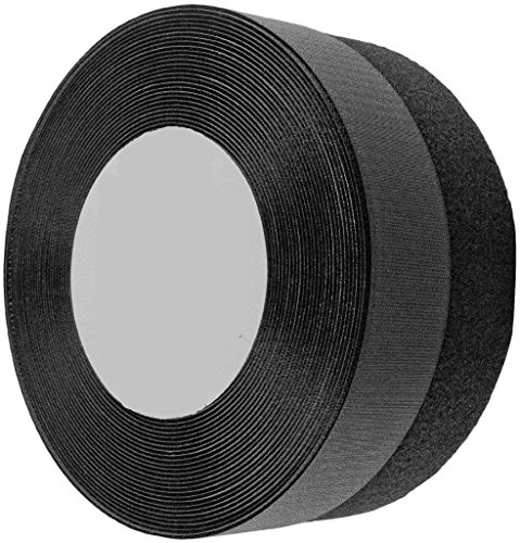 Wish you have a nice day 2 Inches 26yards Black Sew on Hook and Loop Velcro (2inch, 26 yards) by wish you have a nice day