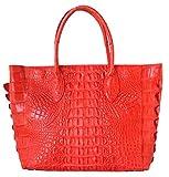 Authentic M Crocodile Skin Womens Hornback Bag Tote Basket Large Handbag