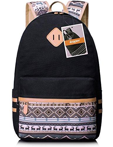 Leaper Lightweight Canvas Shoulder Backpack