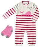 Gia John Cashmere Baby Layette and Socks Sets Romper Long Sleeve Cashmere Pink 3-6M 6-12M (3-6M)
