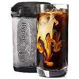 HyperChiller Iced, Versión nueva, Negro, Reusable For Iced Coffee/Tea, Wine Spirits, Alcohol, Juice, 12.5 OZ, 1