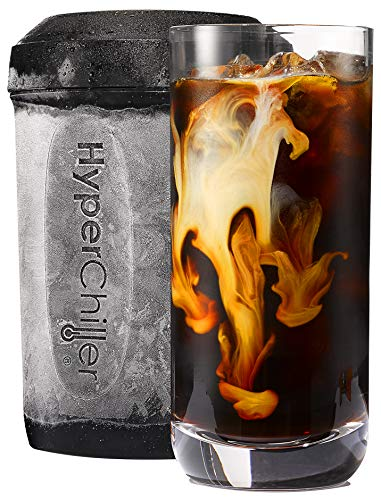 - HyperChiller HC2 Patented Coffee/Beverage Cooler Ready in One Minute, Reusable for Iced Tea, Wine, Spirits, Alcohol, Juice, 12.5 oz, Black