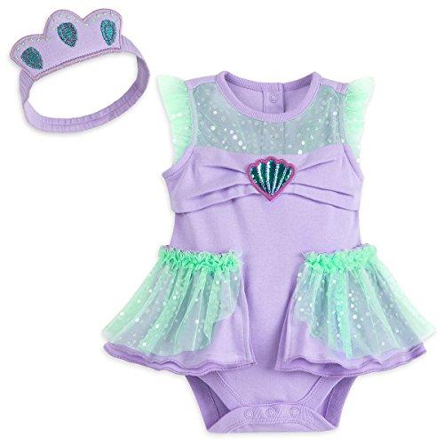 Disney Store Princess Ariel Baby Bodysuit Headband (12-18)]()