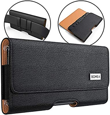 free shipping fad7f 7c5af Bomea Samsung Galaxy S10e S7 Belt Clip Case, Premium Galaxy S10e S7 Leather  Holster Case with Belt Clip and Loops Cell Phone Pouch Case (Fits Phone ...