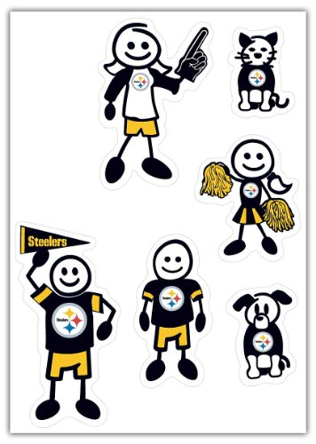NFL Pittsburgh Steelers Small Family Decal Set (Nfl Car Window)