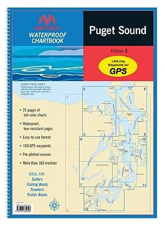 Amazon com maptech waterproof chart kit puget sound 35273