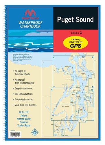 Amazon com maptech waterproof chart kit puget sound 35273