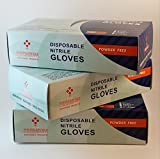 Nitrile Gloves by PREMIUM Disposable Products | 100 Count Box, Powder Free, Latex Free | Household / Industrial / Professional Use | Blue, Non Sterile, Powder Free. (100, Medium)
