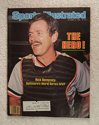 Rick Dempsey - Baltimore Orioles - 1983 World Series Champions! - Sports Illustrated - October 24, 1983 - Philadelphia Phillies - SI (1983 Philadelphia Phillies)