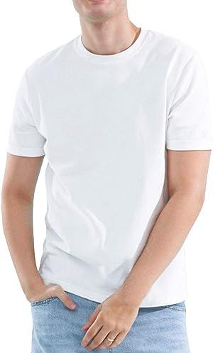 8.1オンス Tシャツ 2枚組 透けない 綿100% 無地 半袖 柔らかい 年中着回せる