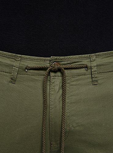 Ultra Oodji Con Cotone Laccetti Uomo In Verde6600n Pantaloni 8m0vwNn