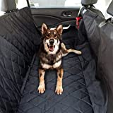 Cheap PicassoTiles PET4FUN PN920 Waterproof Hammock Convertible 53″ x 58″ Pet Dogs Seat Cover for Cars, Trucks, SUVs w/ 8″ Side-Flap Extensions, Non-Slip Rubber Backing, Easy Access Seatbelt Opening -Black