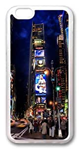 iphone 6 plus Case and Cover -Times Square Night TPU Silicone Rubber Case Cover for iphone 6 plus and iphone 6 plus 5.5 inch Transparent