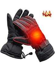 Electric Heated Gloves Rechargeable Battery Camping Hand Warmers Ideal Men's Skiing Gloves Women Men's Cold Weather Gloves Riding Gloves Outside Working/Fishing/Hiking