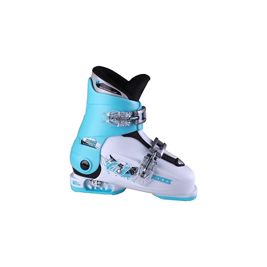 Roces Idea Up G Girls Ski Boots 19 22/White Light Blue Black (2 Buckle)