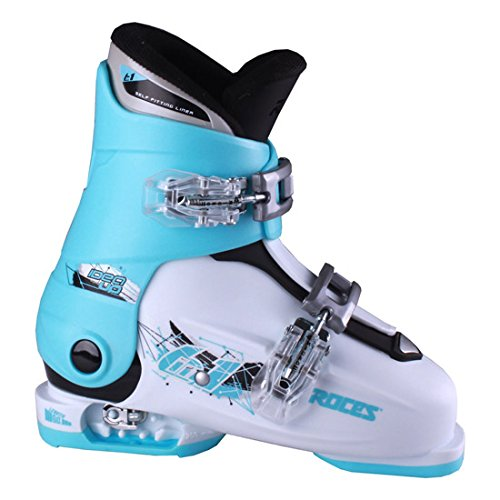 Roces Idea Up G Girls Ski Boots - 19-22/White-Light Blue-Black (2 Buckle)