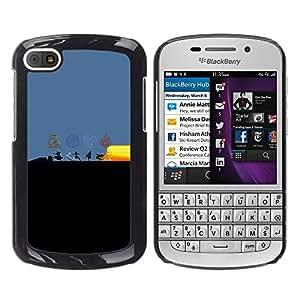 A-type Arte & diseño plástico duro Fundas Cover Cubre Hard Case Cover para BlackBerry Q10 (Dobladora de aire Elementos)