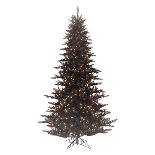 Artificial Christmas Tree. 12ft Fake Xmas Black Fir Looks Stylish, Graceful & Natural With It's Dense, Lush, Foliage & Clear Lights. Slim Shape Saves Space, Great For Indoor Holiday Season Party Decor by Artificial-Christmas-Tree