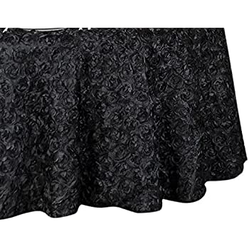 Amazon Com Linentablecloth Rosette Satin Round Tablecloth