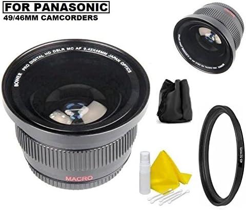HC-V770 HC-V700 Bower 0.42x Ultra Wide Angle Fisheye Lens for Panasonic HC-WXF991K HC-VX981K HC-WX970 HC-X920 HC-X900 HC-VX870 HC-W850 HC-V750