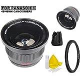 Bower 0.42x Ultra Wide Angle Fisheye Lens For Panasonic HC-WXF991K HC-VX981K HC-WX970 HC-X920 HC-X900 HC-VX870 HC-W850, HC-V770, HC-V750, HC-V700