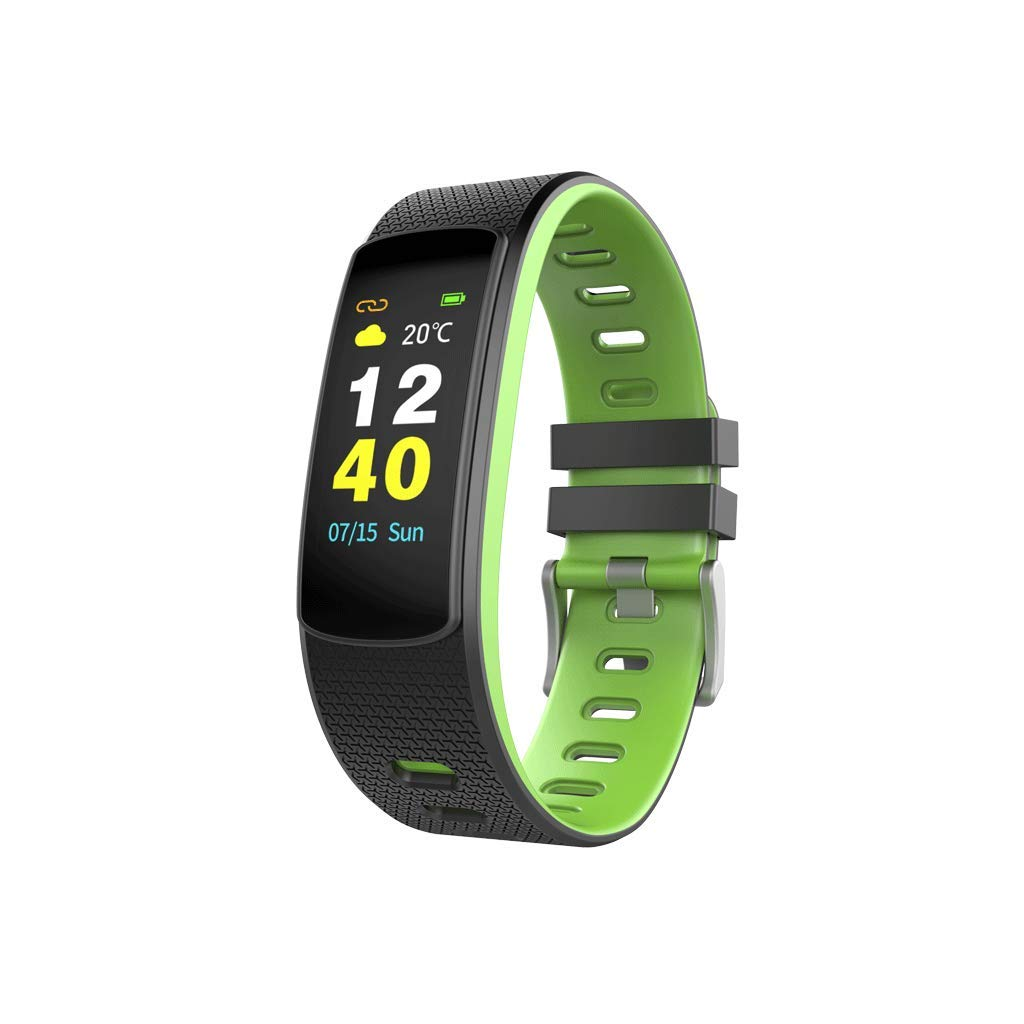 FEDULK Sport Wristband Smart Watch Screen Control Pedometer Fitness Healthy Life Tracker Fitness Smartwatch(Green) by FEDULK