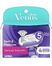 Gillette Venus Swirl Extra Smooth Razor Refills, 4 Count