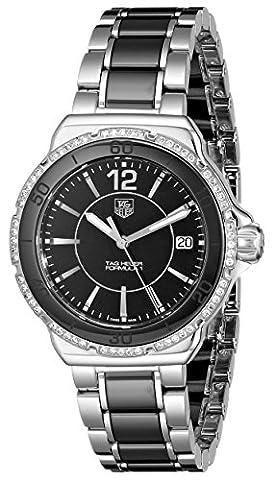 Tag Heuer Women's 'Formula 1' Black Diamond Dial Ceramic Watch WAH1212.BA0859 (Tag Heuer Women Black)