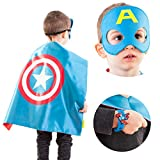 Toys Best Deals - LAEGENDARY Superhero Costumes for Kids -4 Capes and Masks - Glow Captain America Logo - Boys and Girls Toys - Birthday Gifts and Party Supplies for Kids