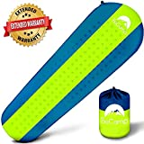 BeCamp Self Inflating Sleeping Pad - Sleeping Pad - Lightweight Sleeping Pad - Mat for Camping Hiking Backpacking - Premium Insulated Sleeping Mattress for Outdoors - Comfortable Pad