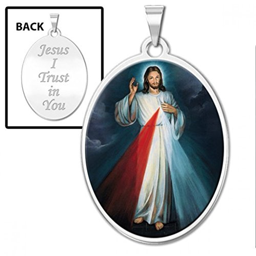 Mercy Medal - Divine Mercy Double Sided Oval Religious Medal