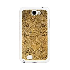 nazi diy Vintage Damask Patte Wood Print Hard Plastic Back Case Cover for Samsung Galaxy Note 2