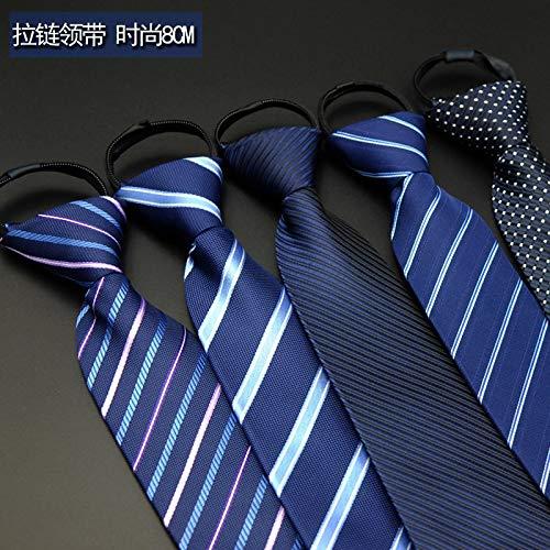 FGYNHVDG Net Red Fashion Lazy Zip Tie Hombres de Negocios Formales ...