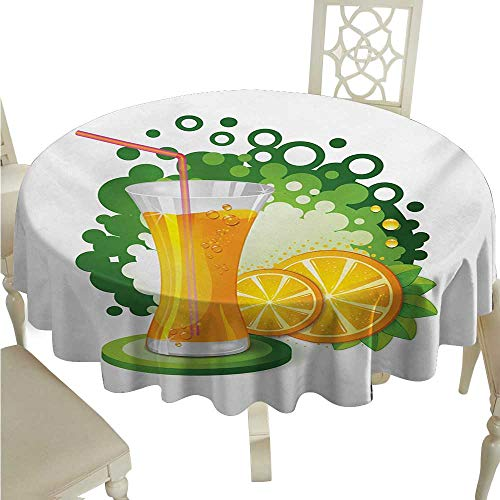 Green and Orange Elegance Engineered Christmas Tablecloth for sale  Delivered anywhere in Canada