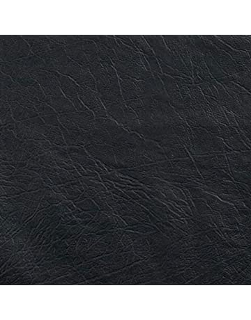45631af38642 Plastex Fabrics 0338934 Faux Leather Buffalo Black Fabric by The Yard