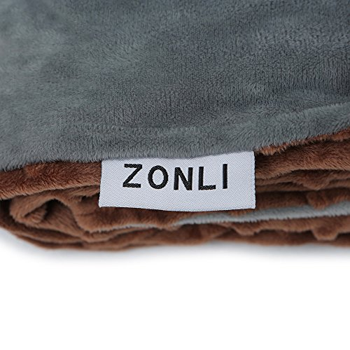 Zonli Removable Duvet Cover For Weighted Blanket Grey