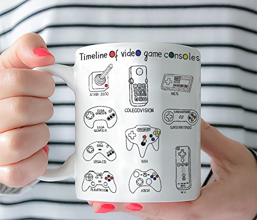 Ceramic Console (Coffee Mug - Text Picture Quote - Video Game Consoles Controllers- Gift For Gamer Her Him Ceramic Mug Tea Cup 11 Oz or 15 Oz 0042)