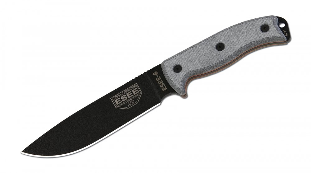 3. ESEE KNIVES 6P FIXED BLADE KNIFE WITH MOLDED POLYMER SHEATH