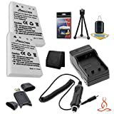 Two Halcyon 1500 mAH Lithium Ion Replacement EN-EL5 Battery and Charger Kit + Memory Card Wallet + SDHC Card USB Reader + Deluxe Starter Kit for Nikon Coolpix P510, P100, P3, P4, P5000, P6000, P80, P90, S10, 3700, 4200, 5200, 5900, 7900 Digital Cameras an
