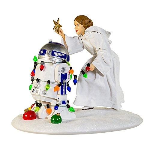 "Kurt S. Adler 5.3"" Princess Leia and R2D2 Table Piece from Kurt Adler"