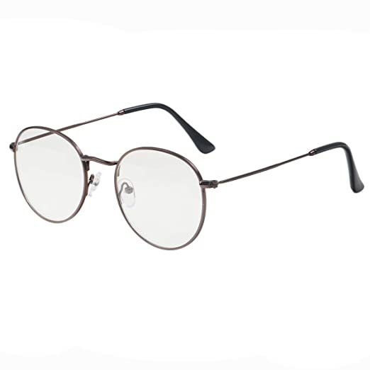 8f8e1300f1c Image Unavailable. Image not available for. Color  Simvey Classic Vintage  Round Circle Metal Glasses Frame Clear Lens