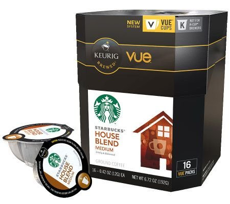 Starbucks 96 Vue Packs House Blend by Keurig by Starbucks