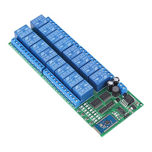 DC 12V 16 Channel Bluetooth Relay Board Wireless Remote Control Switch for Android Phone by Walfront (Image #8)