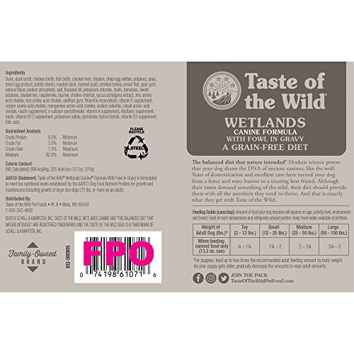 Taste Of The Wild Wet Canned Stew Dog Food